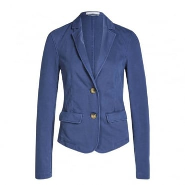 Easy Denim Jersey Blazer
