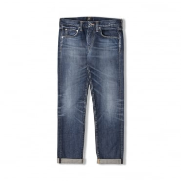 ED-55 Regular Tapered Rainbow Selvedge Denim Jean in Moriko Wash