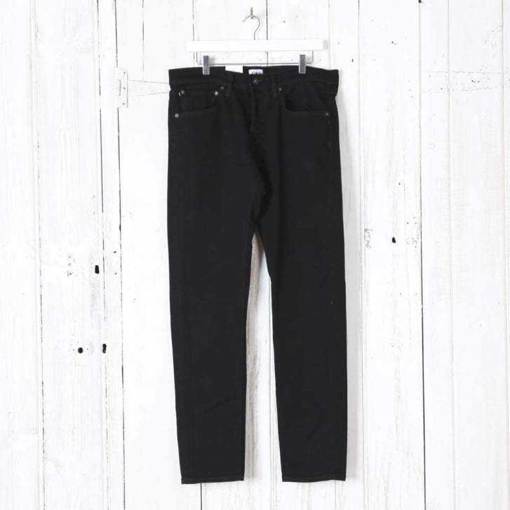 EDWIN ED-80 Slim Tapered CS White Listed Black Selvage Denim in 13oz Rinsed