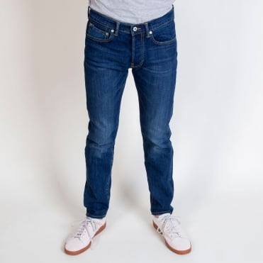 ED-80 Slim Tapered Red Listed Selvage Jean in Blast Wash