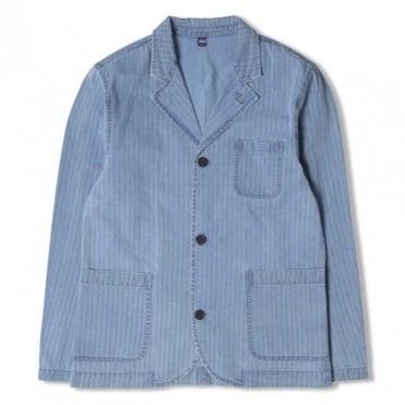 Indigo Herringbone Suit Jacket