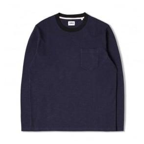 Ringer L/S T-Shirt in Navy/Black