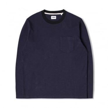 Ringer L/S T-Shirt in Navy/Black