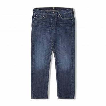 Slim Straight Kingston Blue Denim Jean in Mid Coal Wash