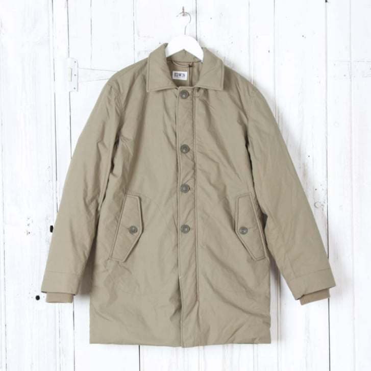 EDWIN Surplus Mac Poplin Cotton Coat in Khaki