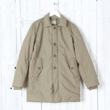 Surplus Mac Poplin Cotton Coat in Khaki