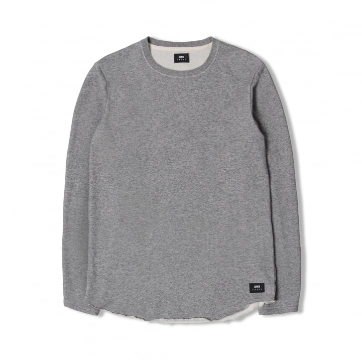 EDWIN Terry LS Cotton Sweat in Grey