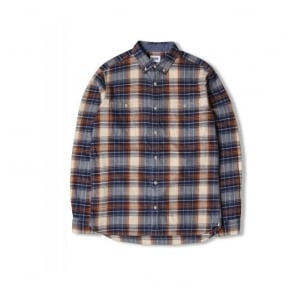 Triple 10 Check Shirt in Blue/Rust