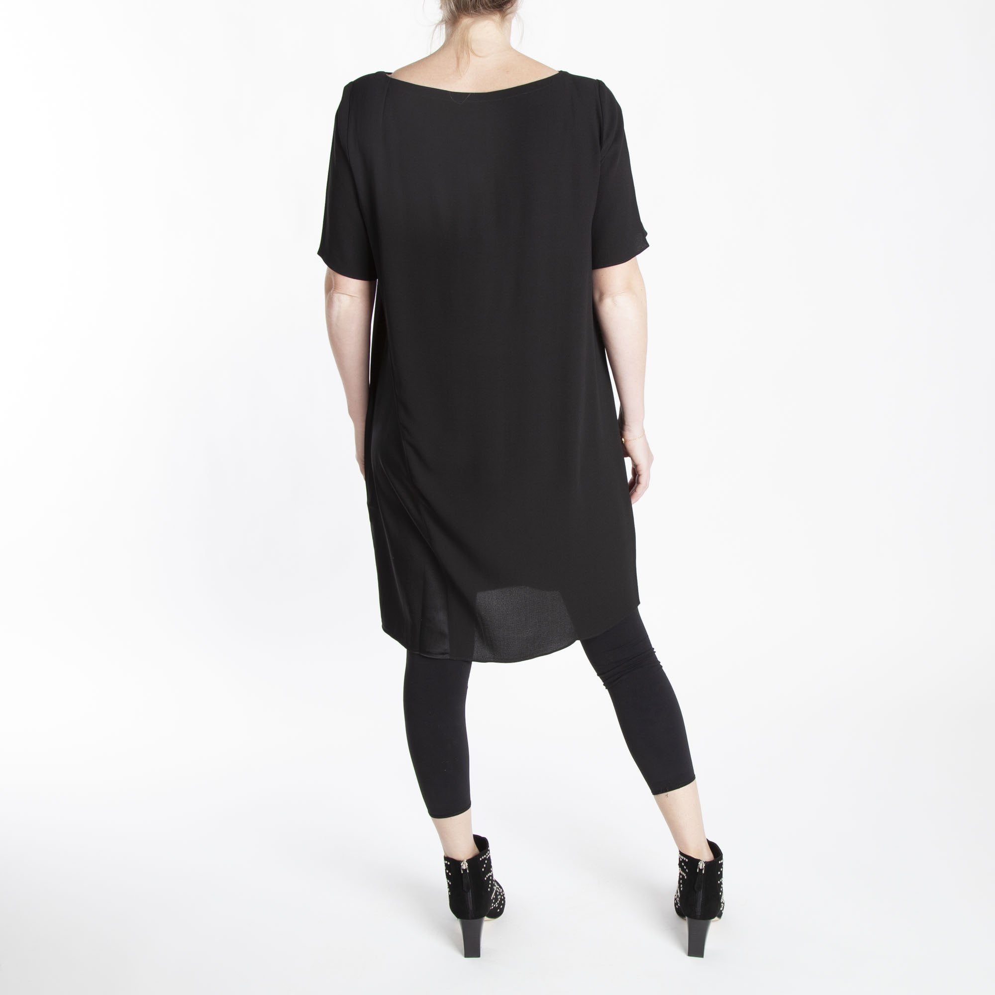 4399ea6fb5b2 Bateau Neck K/L Dress in Black | Collen & Clare