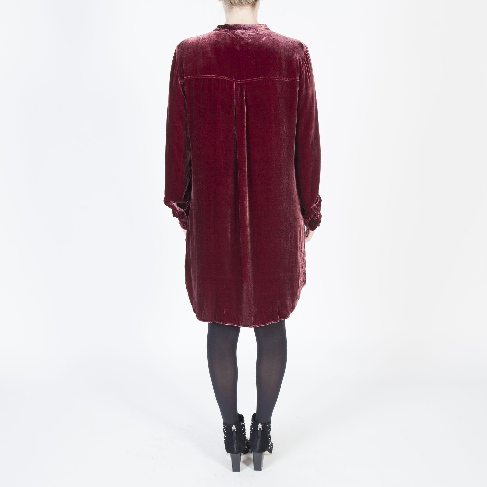 1e6cc798f70c6 Eileen Fisher Velvet Long Shirt in Dark Monterey