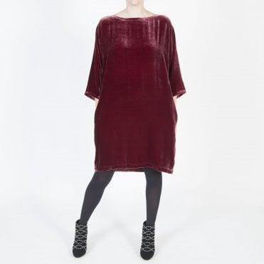 8f91180f4ff77 Velvet Short Dress in Dark Monterey