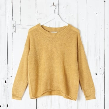 Mohair Roundneck Knit in Mustard