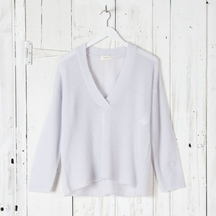 ESE O ESE Super Soft V Neck Knit in Pearl Blue