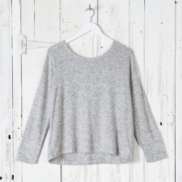 Supersoft Marl Roundneck Knit in Grey