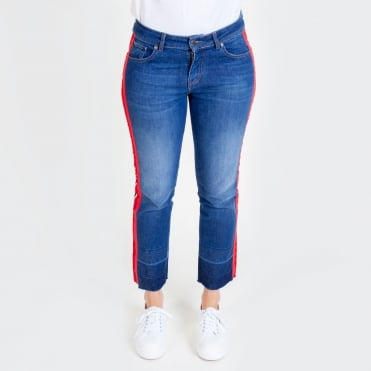 Athleisure Stripe Jean