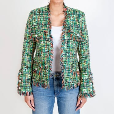 Boucle Chanelesque Jacket in Green