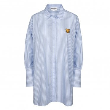Real Oversized Stripe Shirt in Blue