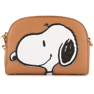 Crossbody Snoopy Bag in Camel