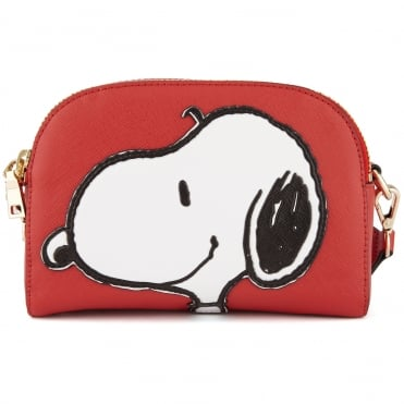 Crossbody Snoopy Bag in Red