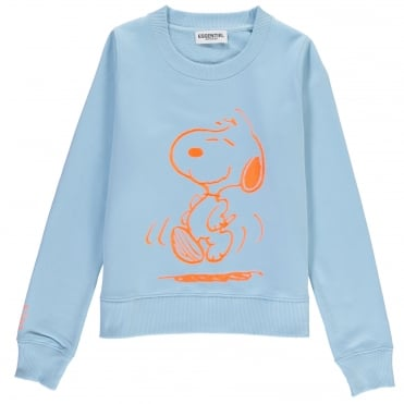 My Summertime Dance Snoopy Sweatshirt in Baby Blue