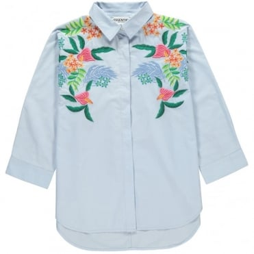 Oxley Tropical Print Embroidered Shirt