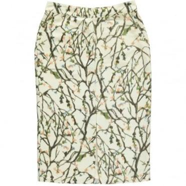 Twig Print Skirt