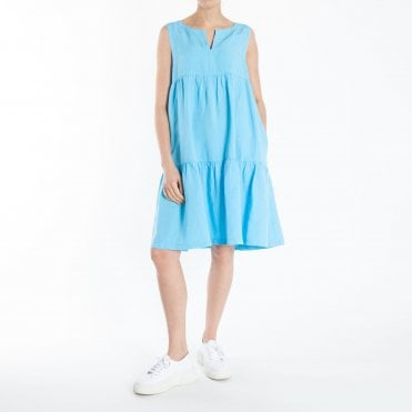 915e77be3e4 Linen Mix Sundress in Turquoise · EUROPEAN CULTURE ...