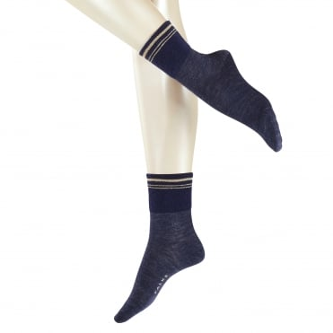 Athletic Denim Sock in Navy Melange