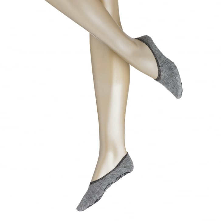 FALKE Cosy Ballerina Sock in Light Grey Melange