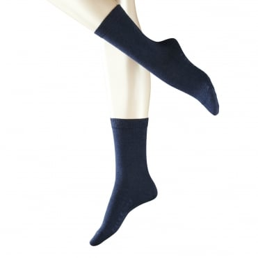 Family Sock in Navy Blue Melange