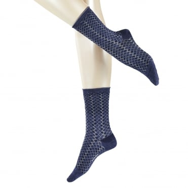 Rustic Denim Sock in Dark Blue Melange