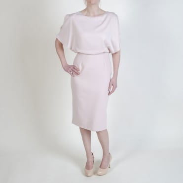 Double Layer Pencil Skirt Dress in Blush