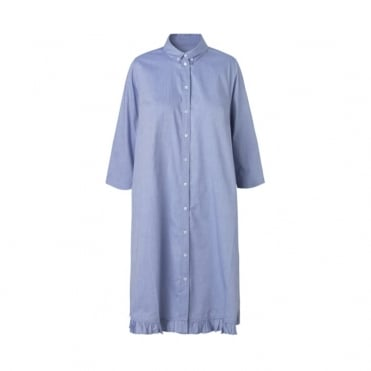 Fine Oxford Delmissa Frill Dress
