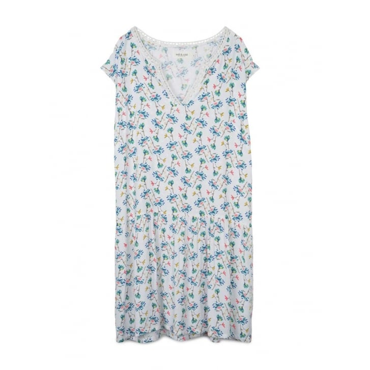 INDI & COLD Floral Cap Sleeve Dress