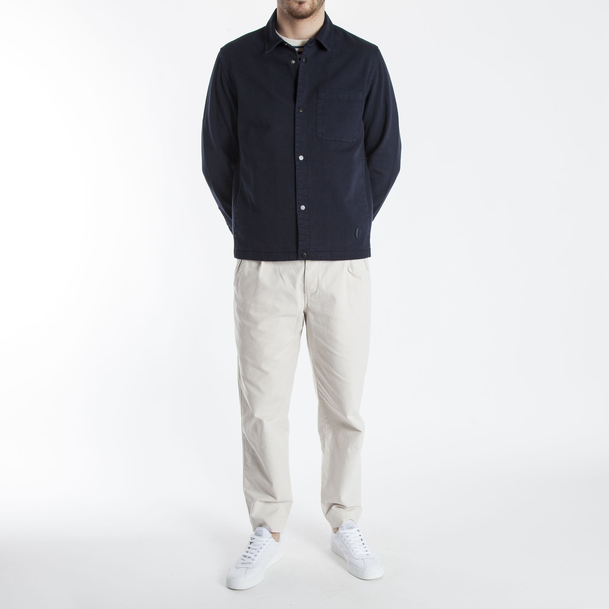 Folk Jacket In Twill Clare amp; Collen Navy Orb vvwqprH