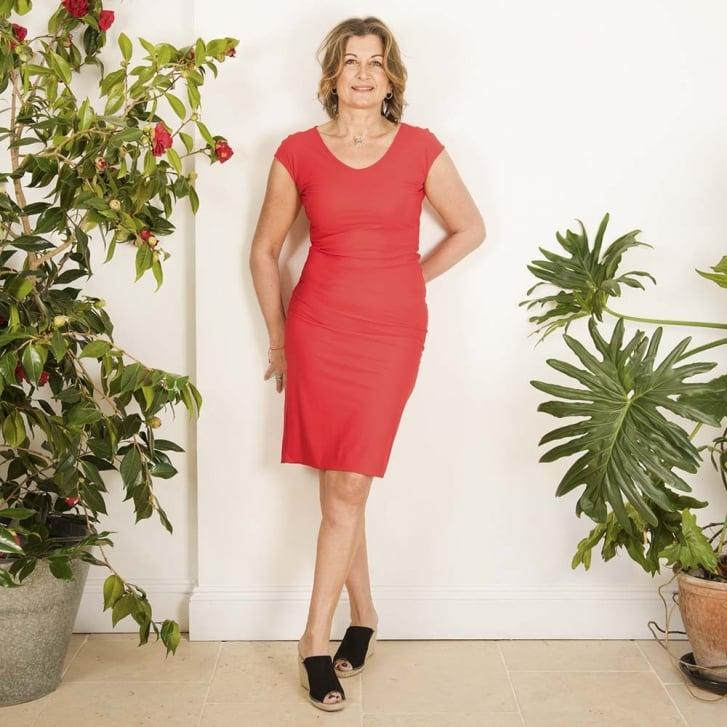 HOPE FASHION Foundation Cap Sleeve Ocean Dress