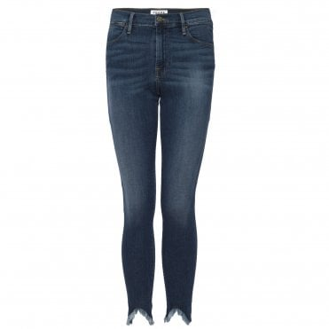 Le High Skinny Triangle Hem Jean in Sulham