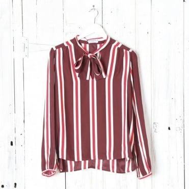 Le Wrap striped tie silk shirt