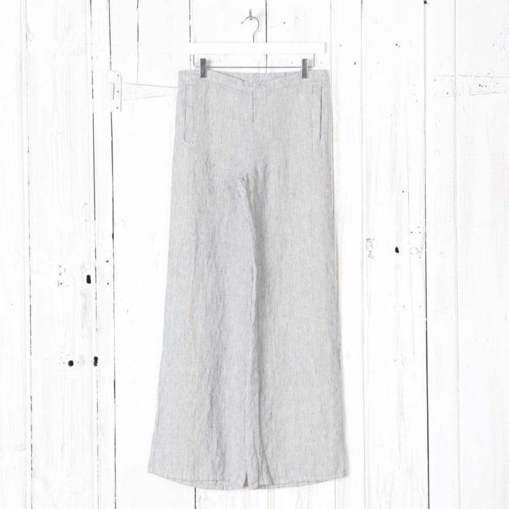 FLAX Fresh Stripe Linen Pant