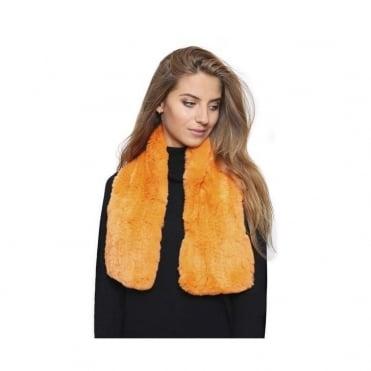 Fur Tippett Knitted Rabbit Fur Scarf