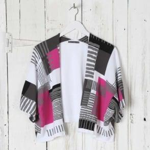 Geo Print Cropped Sweater