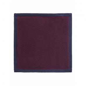Contrast Edge Handkerchief in Wine