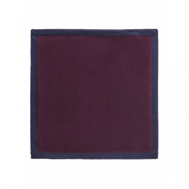 Contrast Edge Handkerchief in Wine