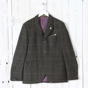 Grouse Windowpane Jacket in Green