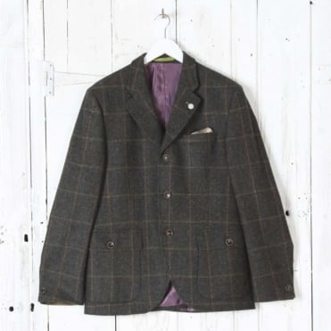 Grouse Windowpane Jacket in Green