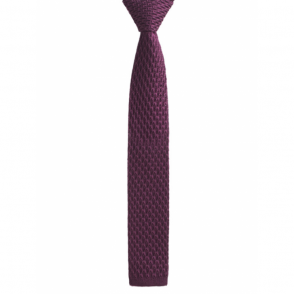Knitted Tie in Wine