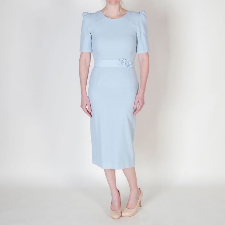 GOAT Fawn Pencil Dress in Frost Blue