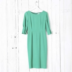 Pencil Dress with Tuck Sleeves