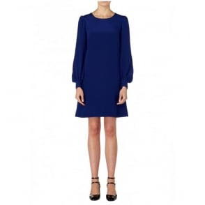 Silk Dress with Full Sleeve