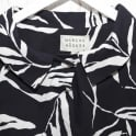 MARCHA HUSKES Grace Bright Bamboo Print Coat